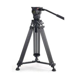TERIS TRIX TCE-CF PLUS Carbon Fiber Video Camera Tripod Kit w/ Fluid Head 7KG