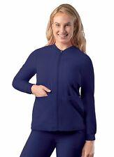 Adar Addition Scrubs for Women - Zippered Bomber Scrub Jacket
