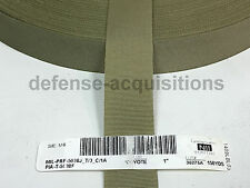 "5 YARDS OF 1"" Inch MilSpec Webbing Binding MIL-PRF-5038J T3 C1A Grosgrain COY"