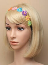 Multi Coloured Daisy Flower Elastic Bandeaux Headband