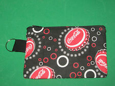 """COCA-COLA"" Coin Purse w/ Key Ring -Handmade-Black & Red"