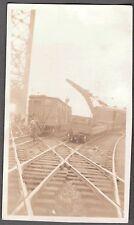 VINTAGE 1924 CHICAGO ILLINOIS TRAIN WRECK RAILROAD RAILWAY CRANE BRIDGE PHOTO