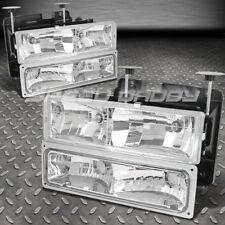 Lentes Cromo Faros + Parachoques Lámparas + Bombilla para 88-98 Chevy / GMC C/ k