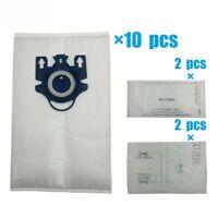 10pcs Vacuum Dust Bags & 4 Felt Filters for Miele Type GN Miele S2 S5 S8 C1 C3