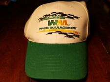 Team Waste Management Uniform Green Baseball Hat Cap Team New