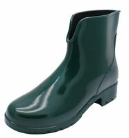 WOMENS GREEN ANKLE GARDEN WELLIES WELLINGTON WALKING RAIN BOOTS SHOES SIZES 3-8