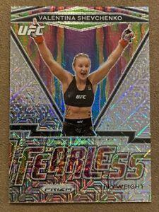 2021 Panini Prizm UFC Valentina Shevchenko Fearless Mojo Refractor /25 #13