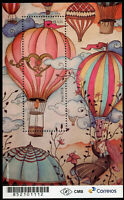 Brazil 2018 MNH Hot Air Balloons 1v M/S Art Cultures Stamps
