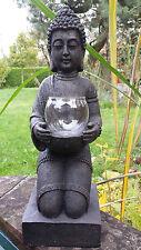 Windlicht-Figur Buddha XL - Teelichthalter Heim + Garten - Deko Statue Skulptur