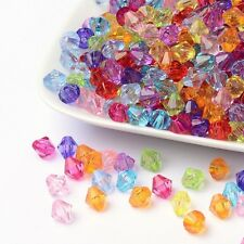 LOT DE 50 PERLES TOUPIES RESINE MULTICOLORE Ø 8 mm CREATION BIJOUX
