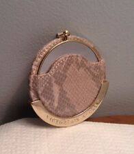 VICTORIA'S SECRET PURSE MIRROR DOUBLE SIDED BROWN SNAKE PRINT CASE NWT