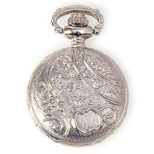 "METAL EMBELLISHMENTS / CHARMS - Small 1"" SILVER Pocket Watch Locket - STEAMPUNK"
