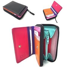 Golunski Black Tropical Multi Coloured Leather Small Purse Wallet With Gift Box