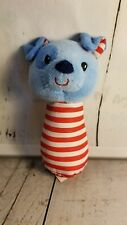 Spark Create Imagine Plush Animal  blue dog spot eye Infant rattle t2