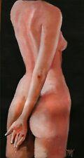YARY DLUHOS ORIGINAL OIL PAINTING Nude Girl Woman Female Standing Torso Figure