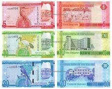 Gambia 5 + 10 + 20 Dalasis 2015 Set of 3 Banknotes New Design 3 PCS UNC