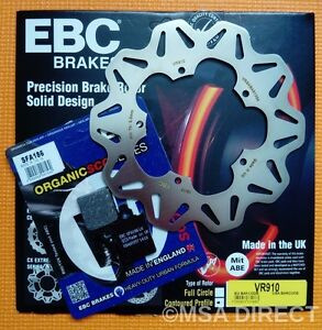 EBC FRONT Brake Disc and Brake Brake Pads Fits VESPA PX125 / PX150 / PX200