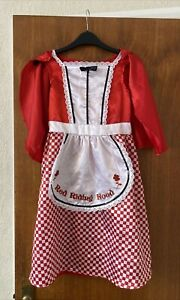 Little Red Riding Hood dressing up costume age 6-8 with cape and attached apron