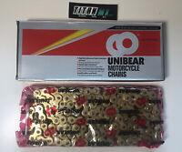 UNIBEAR Heavy Duty Chain 415 Pitch 120 Link KTM SX 50 Motocross Chain Gold TC50