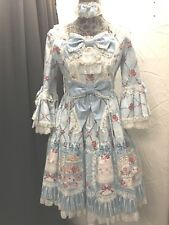 Angelic Pretty Lolita Dress Sweet Dessert Afternoon Tea salon de rose sax blue
