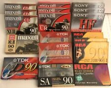 18PC Mixed Lot Blank Audio Cassette Maxell Sony TDK RCA 60 90 minutes Sealed