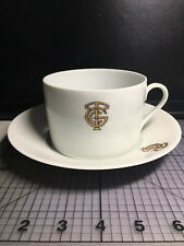 Vintage CGT SS FRANCE FRENCH LINE Limoges Jumbo Cup and Saucer VG