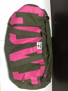 NWOT Victoria's Secret PINK Military/PINK Oversized XL Duffle