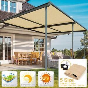 Anti-UV Sun Shelter Sail Canopy Outdoor Garden Greenhouse Sunshade Net Awning