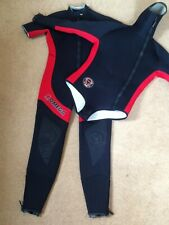 Northern Diver 7mm semi-dry 2 piece wetsuit Omega Titanium With Bag Hardly Used