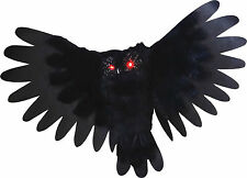 HALLOWEEN  ANIMATED OWL BIRD SOUNDS HAUNTED HOUSE  PROP DECORATION