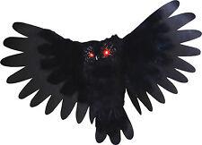 HALLOWEEN  ANIMATED OWL BIRD SOUNDS HAUNTED HOUSE  PROP DECORATION