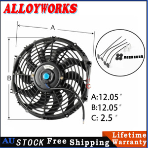 """12""""inch 12V PULL&PUSH Radiator THERMAL THERMO COOLING Fan+MOUNTING KIT"""