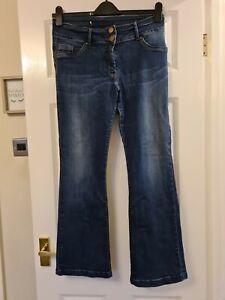 Size 14 Petite Bootcut Dark Blue Jeans