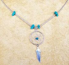 """""""Dream Catcher"""" Turquoise & Argent Collier Native Made"""