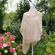 ETole Foulard Echarpe Femme beige 100% LIN naturel linum  ZAZA2CATS new