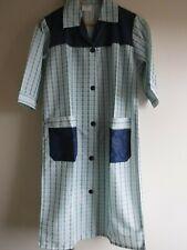 Vintage/Retro Ladies Checked Nylon Overall Apron Size W Blue