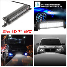"1x 60W 6D 7"" LED Work Light Flood Beam Bar Car SUV Off-Road Driving Fog Lamp New"