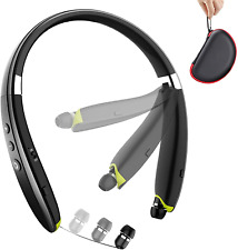 New listing Headphones Noise Cancelling Bluetooth Foldable Wireless Neckband Headset