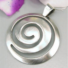 Ostheimer-Schmuck Anhänger Spirale,Schnecke in matt leicht gewölbt 925 Silber