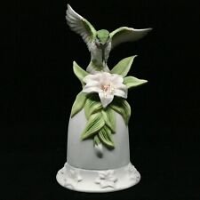 Seymour Mann Hummingbird Bell Functional Green White Ceramic 1996 M Bernini