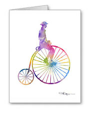 BICYCLE - PENNY FARTHING Note Cards With Envelopes