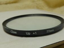 glass not plastic  77mm Close up Macro Filter +1 Diopter 1x Filter new