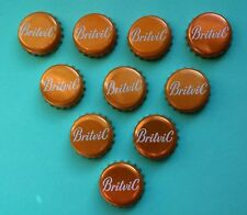 10 Britvic Metallic Orange Bottle Tops Crown Caps Crafts projects Art Man Cave