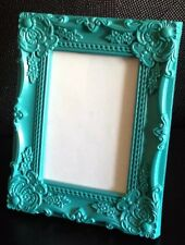"""TEAL BAROQUE ROCOCO FRENCH SHABBY CHIC VINTAGE 7""""x5""""  PICTURE PHOTO FRAME"""