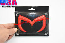 04-09 MAZDA 3 MAZDASPEED 3 EVIL 'M' REAR TRUNK EMBLEM BADGE GLOSSY RED UNIVERSAL