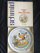 Schmid Walt Disney 1977 Mother Day Plate Pluto Limited Edition Collector Plate