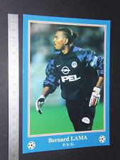 RARE BERNARD LAMA PARIS SAINT-GERMAIN PSG FOOTBALL CPA FRANCE 1996-1997