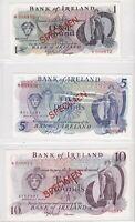 BN3) Northern Ireland, Bank of Ireland 1978 set of 4 Unc. SPECIMEN £1 - £20