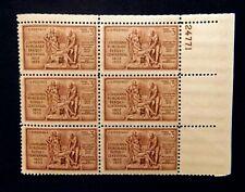 US Plate Blocks Stamps #1020 ~ 1953 LOUISIANA PURCHASE 3c Plate Block 6 MNH