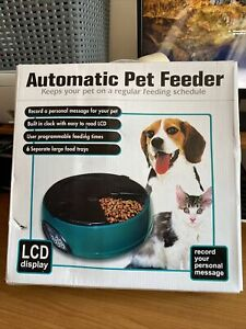 Automatic 6 Day Meal Pet Dog Cat Feeder Food Bowl Auto Holiday Dispenser
